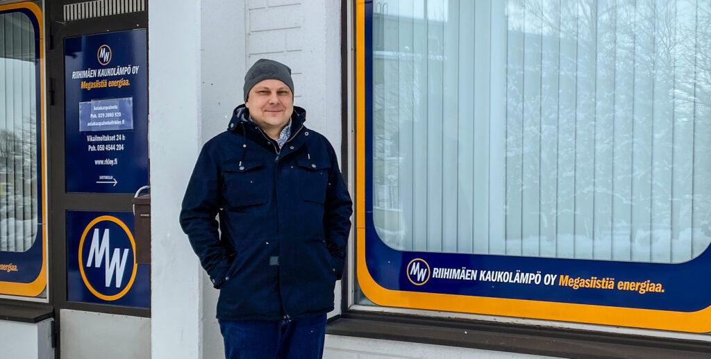 Riihimäen Kaukolämpö Oy:n toimitusjohtaja Antti Eskola