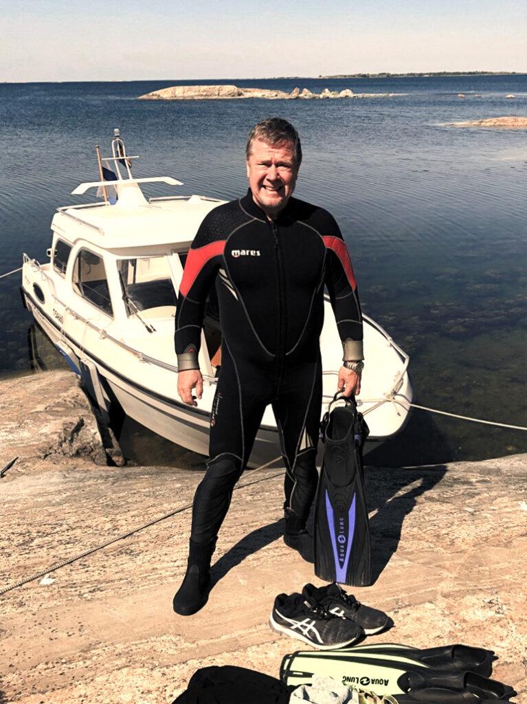 Markku Salonen sukellusreissulla